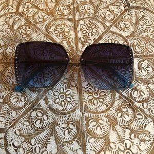 Brand New Blue & Silver Bling Sunglasses